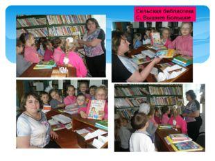 Сельская библиотека С. Вышнее Большое