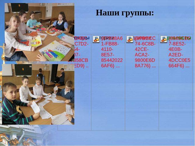 Наши группы: