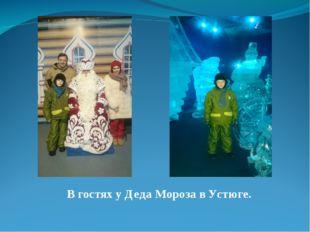 В гостях у Деда Мороза в Устюге.