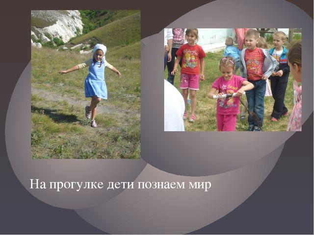 На прогулке дети познаем мир