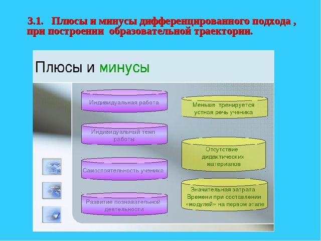3.1. Плюсы и минусы дифференцированного подхода , при построении образователь...