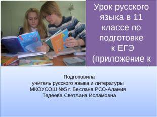 Урок русского языка в 11 классе по подготовке к ЕГЭ (приложение к уроку по те
