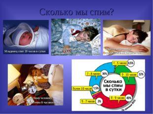 Сколько мы спим? Младенец спит 20 часов в сутки Дети младшего возраста должны