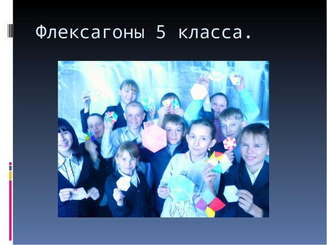 Флексагоны 5 класса.
