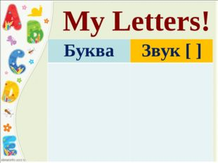 My Letters! Буква	Звук [ ]