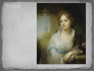 Porträt Borowikowski. Porträt von Maria Lopuchina