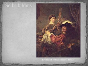 Selbstbildnis Rembrandt. Selbsbildnis mit Saskia