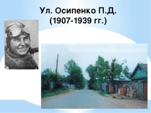 Ул. Осипенко П.Д. (1907-1939 гг.)