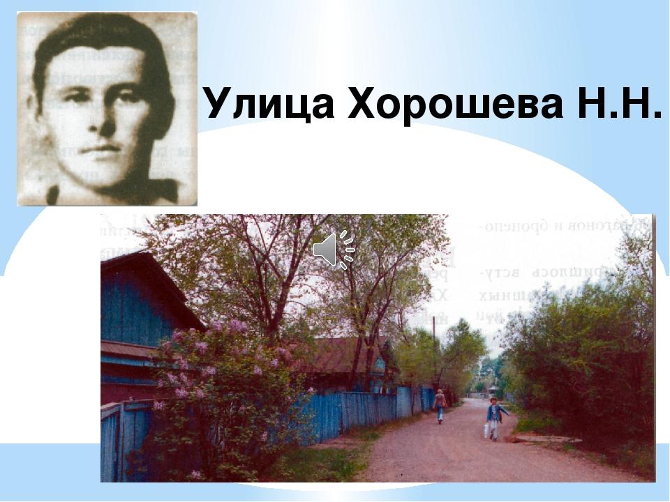 Улица Хорошева Н.Н.