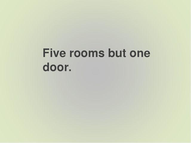 Five rooms but one door.
