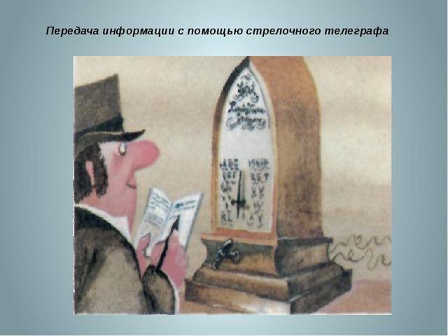 Передача информации с помощью стрелочного телеграфа