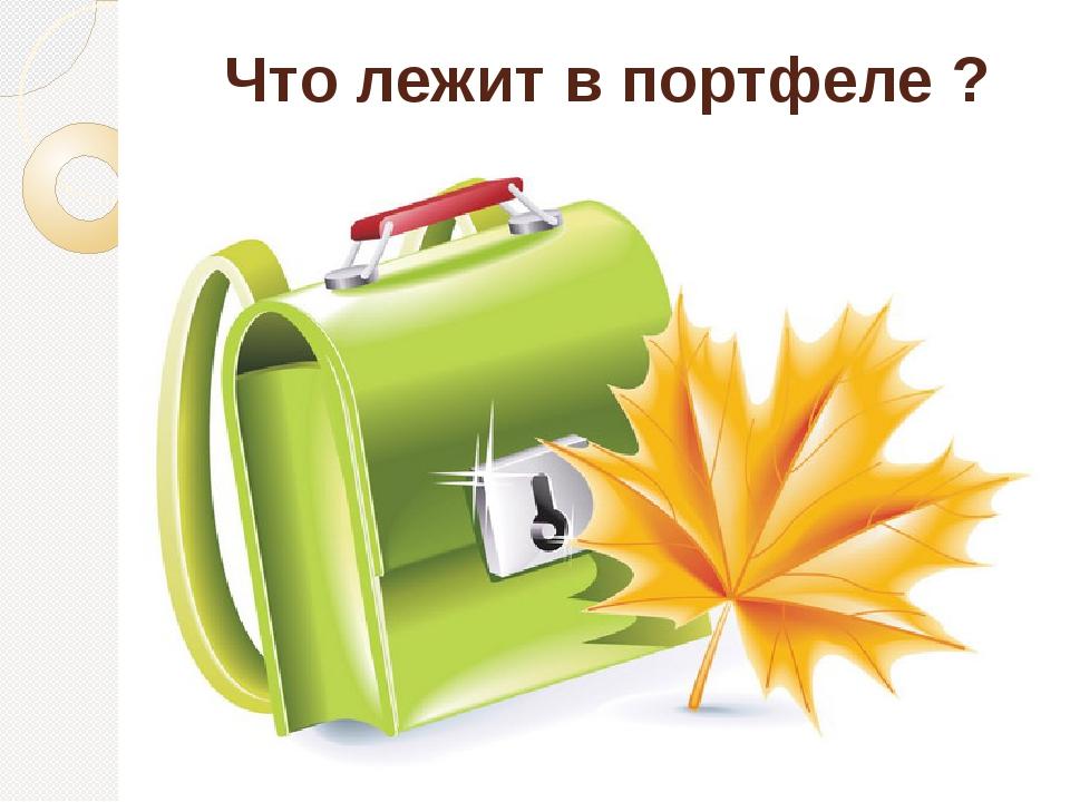 Что лежит в портфеле ?