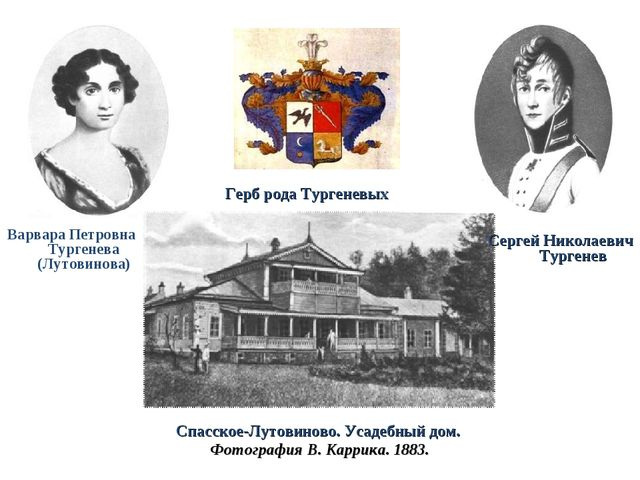 Варвара Петровна Тургенева (Лутовинова) Спасское-Лутовиново. Усадебный дом....