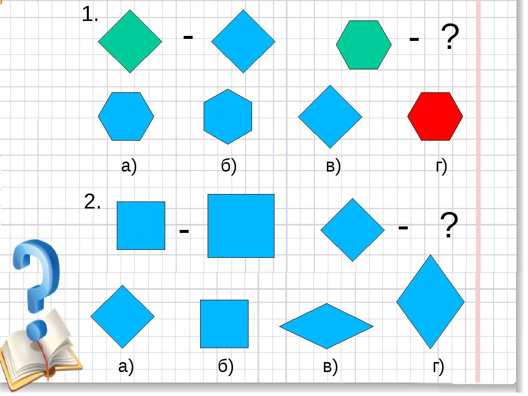 1. - - ? а) б) в) г) 2. - - ? а) б) в) г)