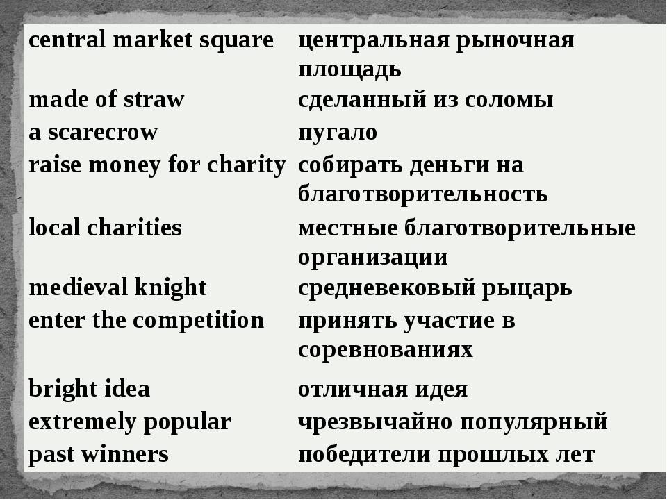 central market square центральная рыночная площадь made of straw сделанный из...