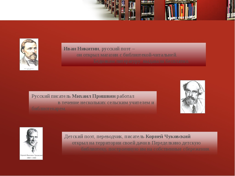 Иван Никитин, русский поэт – он открыл магазин с библиотекой-читальней. Бедн...