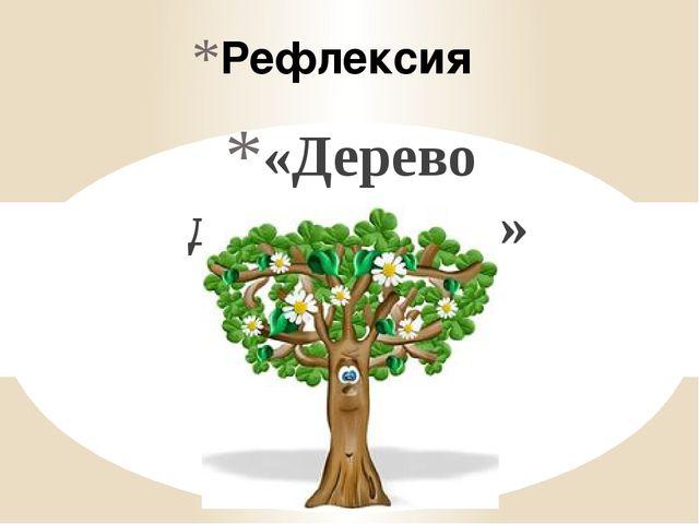 Рефлексия «Дерево достижения»