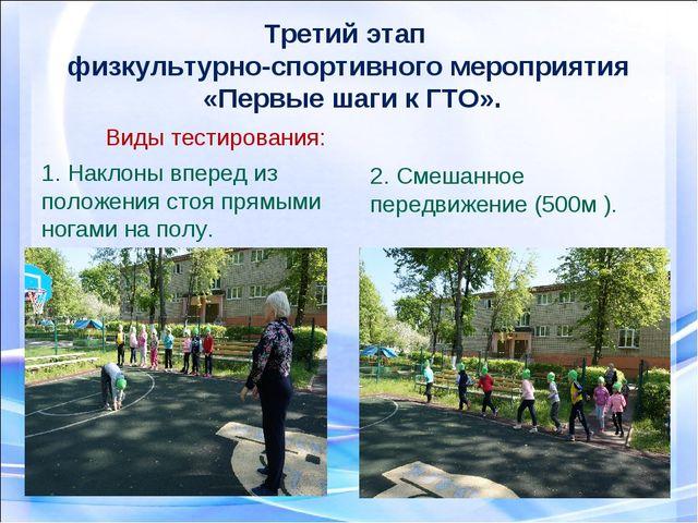 Третий этап физкультурно-спортивного мероприятия «Первые шаги к ГТО». Виды те...