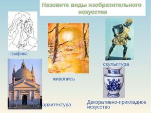 графика живопись скульптура архитектура Декоративно-прикладное искусство