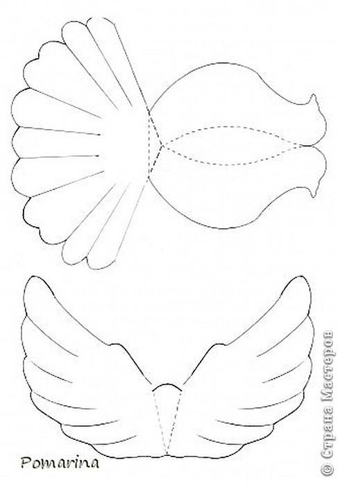 Пушистый голубь из бумаги своими руками