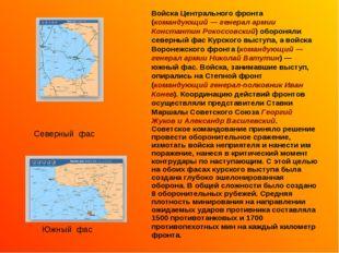 Войска Центрального фронта (командующий — генерал армии Константин Рокоссовск