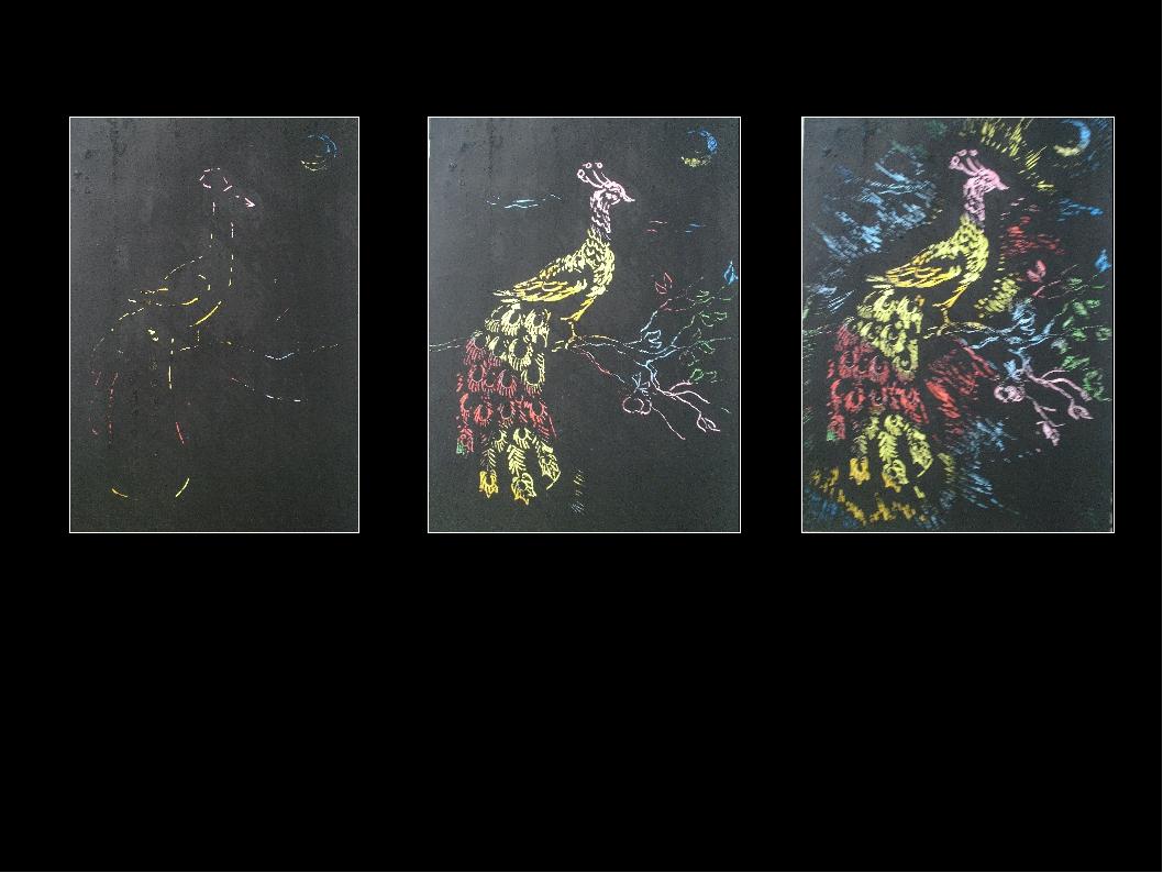 Для создания тонального рисунка, независимо от цвета поверхности картона — б...
