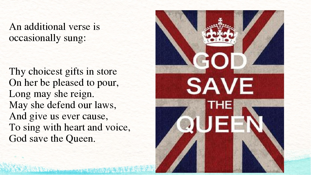An additional verse is occasionally sung: Thy choicest gifts in store On her...