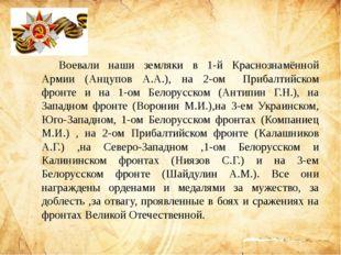 Воевали наши земляки в 1-й Краснознамённой Армии (Анцупов А.А.), на 2-омПр