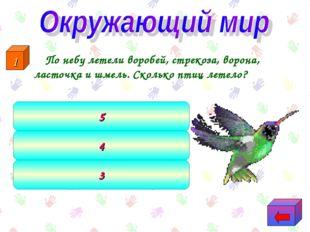 По небу летели воробей, стрекоза, ворона, ласточка и шмель. Сколько птиц лет