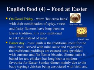 English food (4) – Food at Easter On Good Friday - warm 'hot cross buns' with