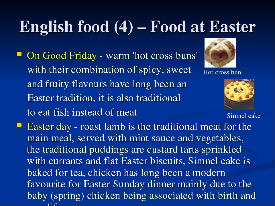 English food (4) – Food at Easter On Good Friday - warm 'hot cross buns' with...