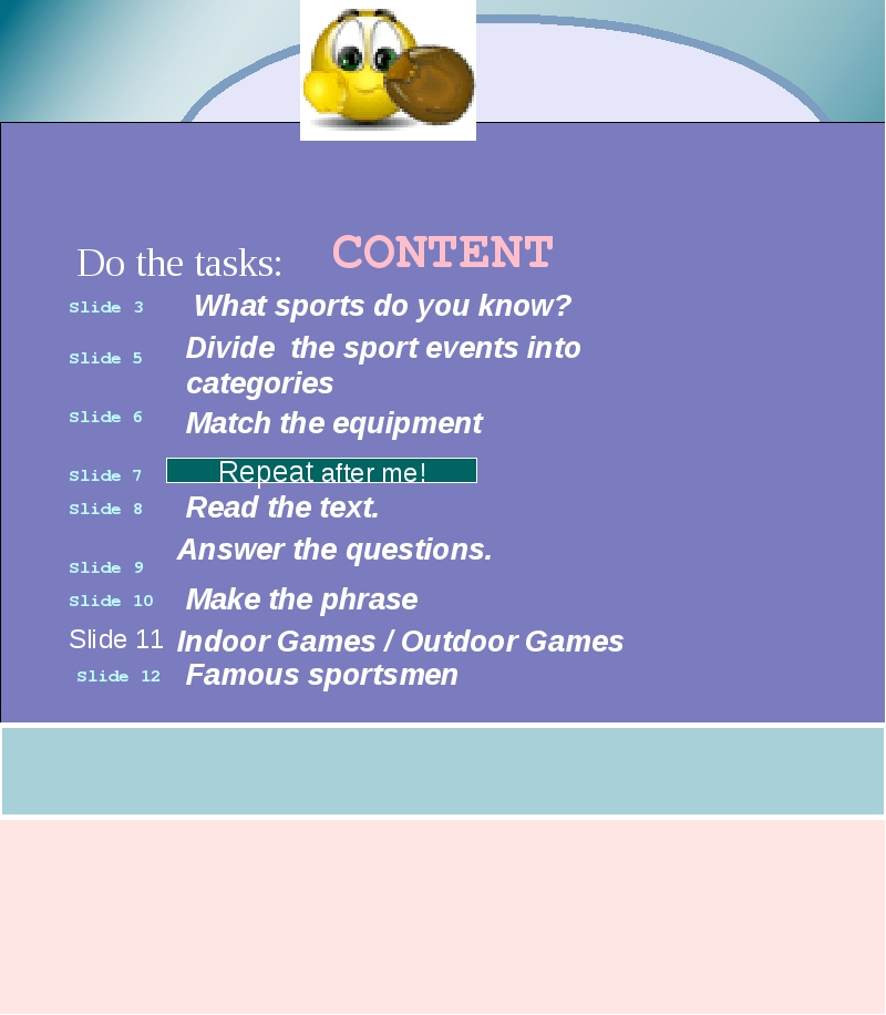 Do the tasks: Divide the sport events into categories Answer the questions. I...