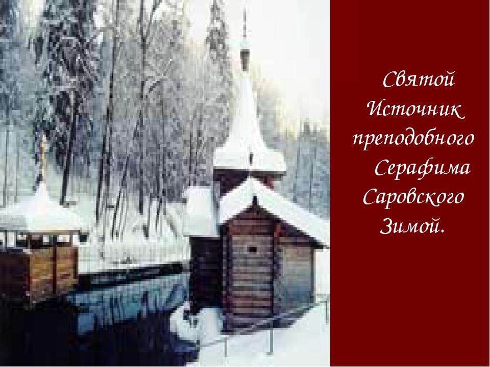 Святой Источник преподобного Серафима Саровского Зимой.