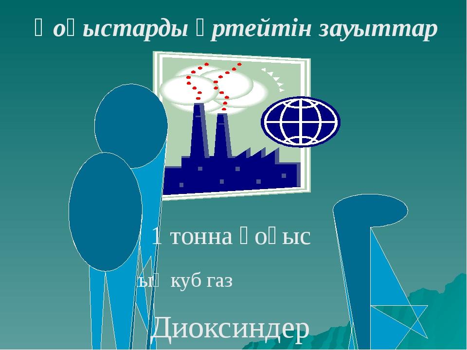 1 тонна қоқыс 5 мың куб газ Диоксиндер Қоқыстарды өртейтін зауыттар
