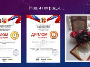 Наши награды….