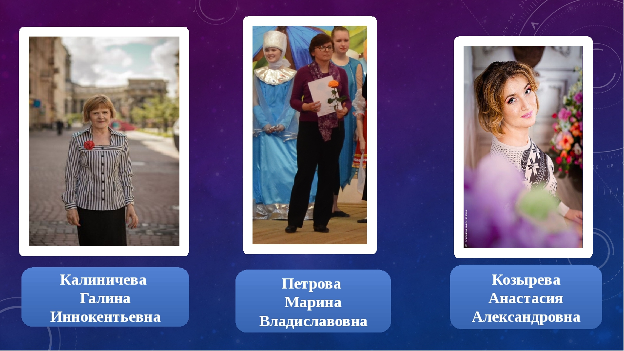 Калиничева Галина Иннокентьевна Козырева Анастасия Александровна Петрова Мари...