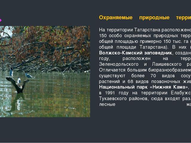 Охраняемые природные территории На территории Татарстана расположено более 15...