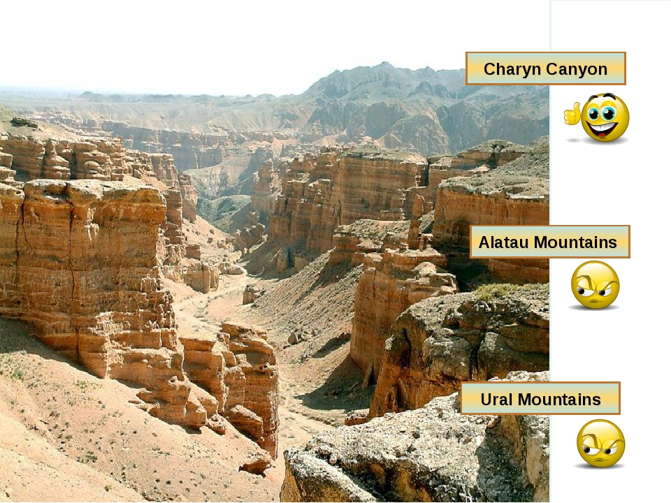 Charyn Canyon Alatau Mountains Ural Mountains