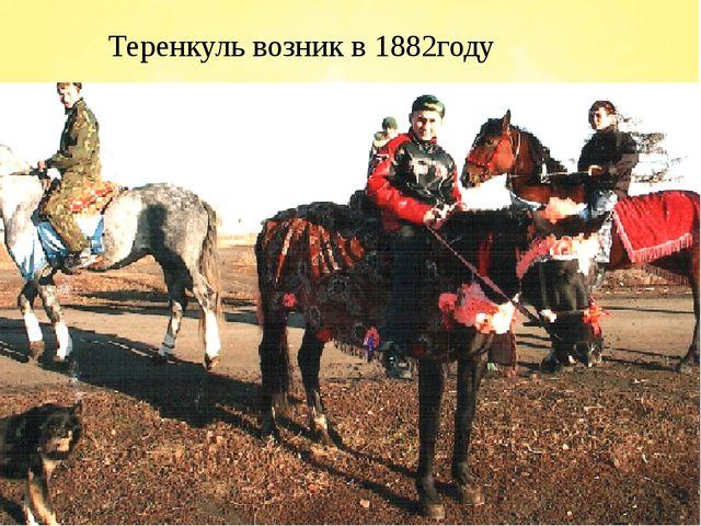 Теренкуль возник в 1882году