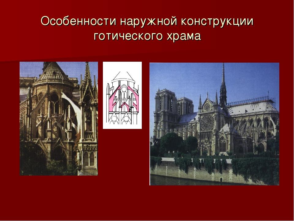 Особенности наружной конструкции готического храма