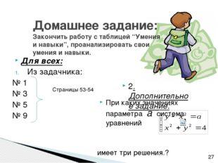 """Домашнее задание: Закончить работу с таблицей """"Умения и навыки"""", проанализиро"""