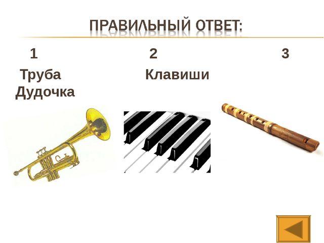 1 2 3 Труба Клавиши Дудочка