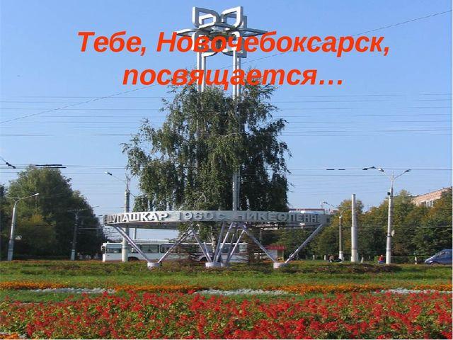 Тебе, Новочебоксарск, посвящается…