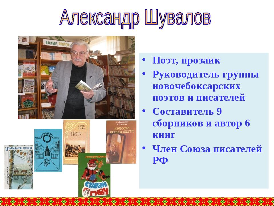 Поэт, прозаик Руководитель группы новочебоксарских поэтов и писателей Состави...