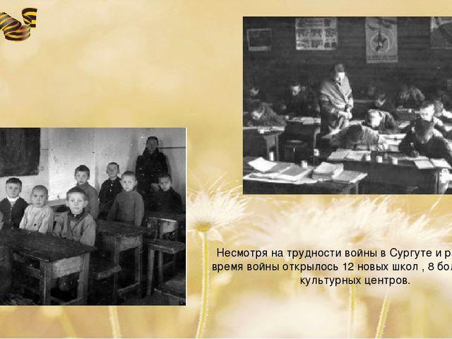 Несмотря на трудности войны в Сургуте и районе за время войны открылось 12 но...