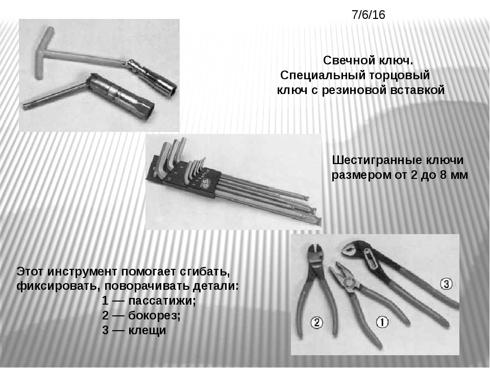 Свечной ключ. Специальный торцовый ключ с резиновой вставкой Шестигранные клю...