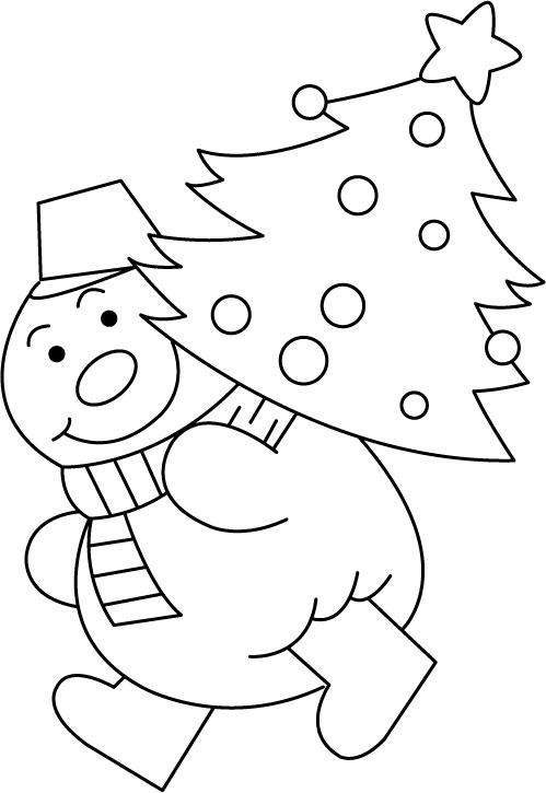 Трафарет на новый год снеговик