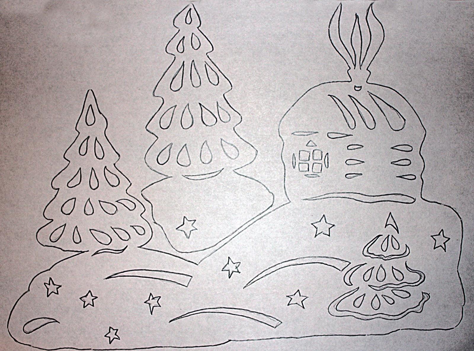 картинки для новогоднего украшения окон шкаф визуально
