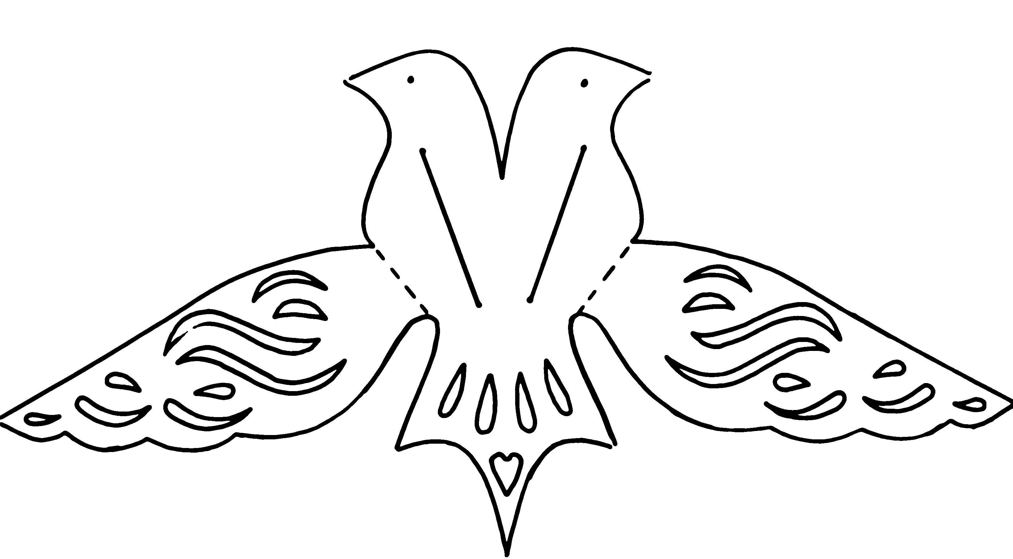 Птица картинка для вырезания