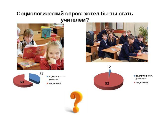 Социологический опрос: хотел бы ты стать учителем?